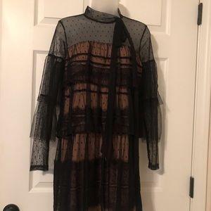 Gianni Bini size XS NWT black lace dress